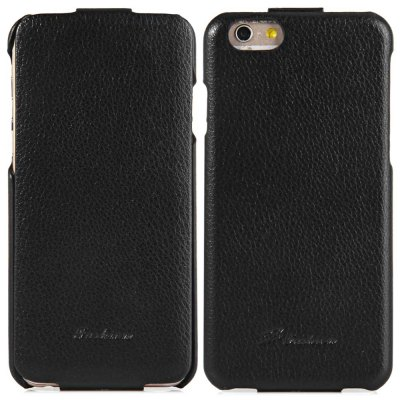 ФОТО Vertical Top Flip Cover Case of PU Leather and Plastic Material for iPhone 6  -  4.7 inches