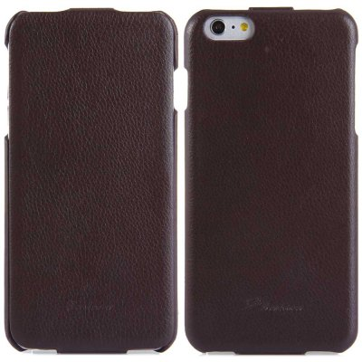 ФОТО Vertical Top Flip Cover Case of PU Leather and Plastic Material for iPhone 6 Plus  -  5.5 inches