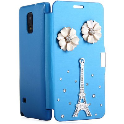 ФОТО Useful PU and PC Material Diamante Back Cover Case for Samsung Galaxy Note 4 N9100