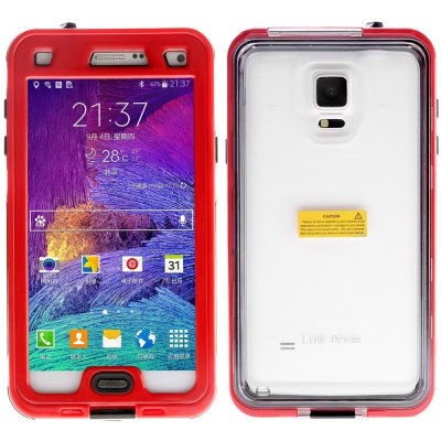 ФОТО Link Dream Practical Transparent Waterproof PC and TPE Protective Case for Samsung Galaxy Note 4 N9100