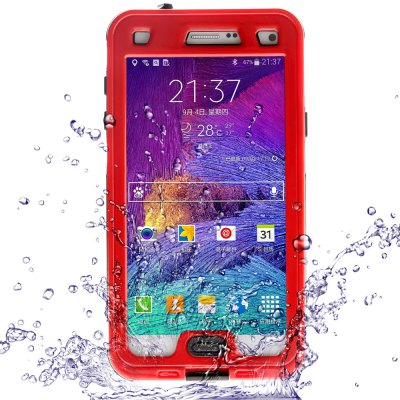 Link Dream Practical Transparent Waterproof PC and TPE Protective Case for Samsung Galaxy Note 4 N9100