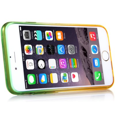 Фотография KST Colorful Translucent TPU Material Back Case for iPhone 6 Plus  -  Green + Yellow 5.5 inches