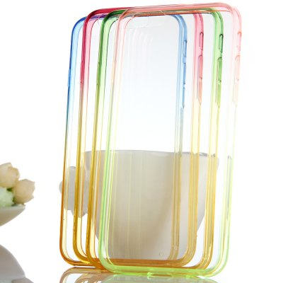 Фотография KST Colorful Translucent TPU Material Back Case for iPhone 6 Plus  -  Green + Pink 5.5 inches
