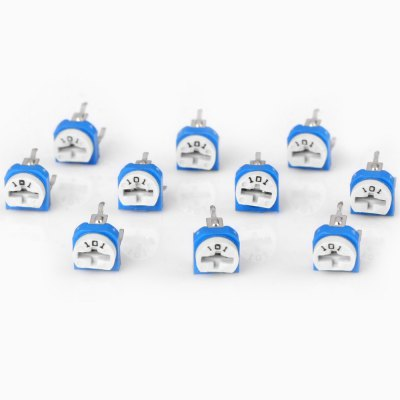 Multifunctional Horizontal 101 100 Ohm Adjustable Resistors ( 0.1W 50V ) for Electronic DIY  -  10PCSDIY Parts &amp; Components<br>Multifunctional Horizontal 101 100 Ohm Adjustable Resistors ( 0.1W 50V ) for Electronic DIY  -  10PCS<br><br>Type: Resistor<br>Material: PBT<br>Product Weight: 0.005 kg<br>Package Weight: 0.045 kg<br>Product Size(L x W x H): 0.7 x 0.7 x 1.2 cm / 0.3 x 0.3 x 0.5 inches<br>Package Size(L x W x H): 10.2 x 7.0 x 1.0 cm<br>Package Contents: 10 x DIY 0.1W 50V Horizontal 101 100 Ohm Adjustable Resistors