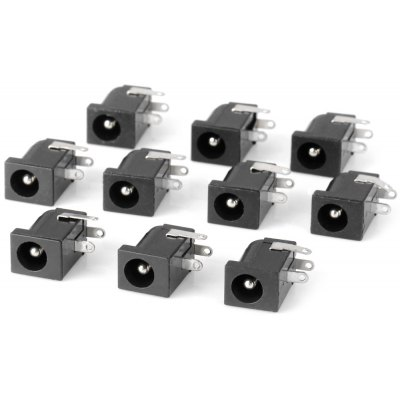 Practical 2.5mm DC Power Jack Connector ( DC 30V 0.3A ) for DIY Project  -  10PCS