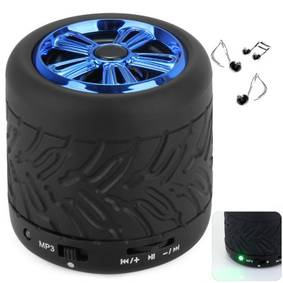 GM001 Wheel Type Multifunctional MIC Wireless Bluetooth 2.1 Speaker with Hands - free Calls for Desktop Laptop