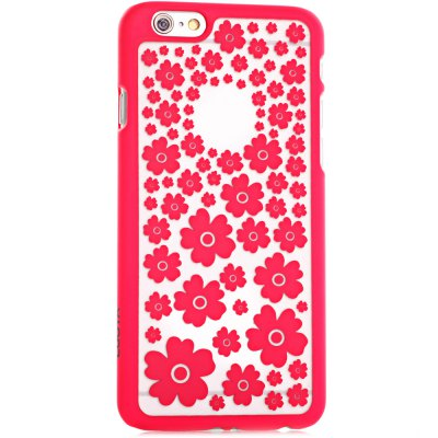 ФОТО Stylish Empaistic Many Flowers Pattern Plastic Back Case Cover for iPhone 6  -  4.7 inches