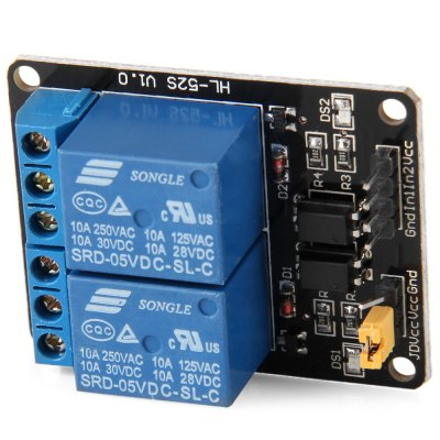 AC / DC 2 - Channel Relay Module Arduino Compatible 125V~250V AC /  30V  DC /  10A per Channel