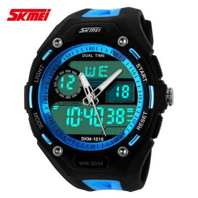 Skmei 1015 Double Movt Sports LED Watch