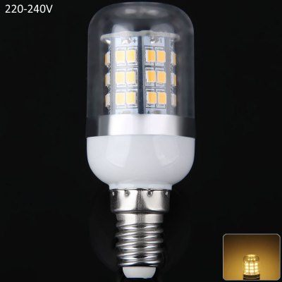 E14 10W SMD 2835 48 LEDs Light 900Lm 3000  -  3200K Corn Light with Clear Shade