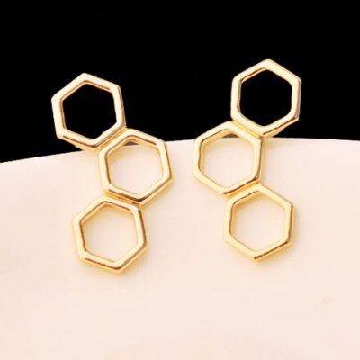 Pair of Women's Graceful Solid Color Geometric Earrings
