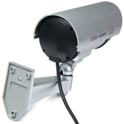 ФОТО High Resemblance Dummy CCTV Security IR Camera with LED Blinking Light for Indoor Outdoor Use