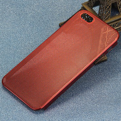 Mesh Style Back Cover Case with Metal Material for iPhone 5