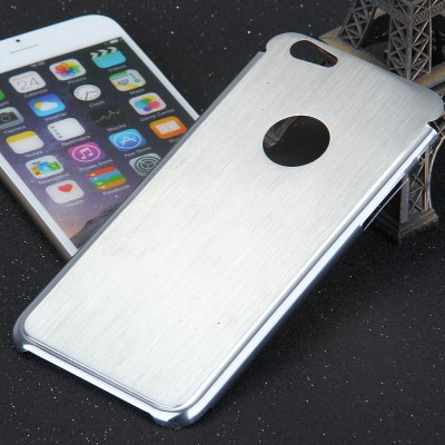 Brushed Back Cover Case with Solid Color Logo Hole Style for iPhone 6  -  4.7 inches