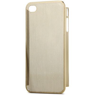 Mesh Style Back Cover Case with Metal Material for iPhone 4 / 4S