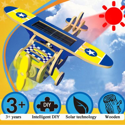 210 Solar Powered Assembling Toy 3D Model Educational Wooden Toy