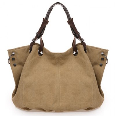 Casual Rivets and Canvas Design Women's Tote Bag
