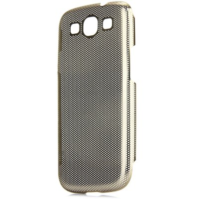 Mesh Style Back Cover Case with Meatal Material for Samsung Galaxy S3 i9300