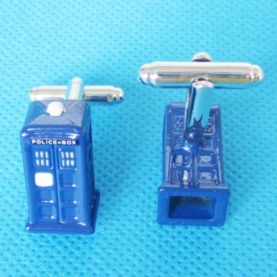 Pair of Chic Police Box Shape Cufflinks For Men