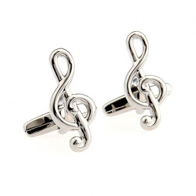 Solid Color Musical Note Shape Alloy Cufflinks