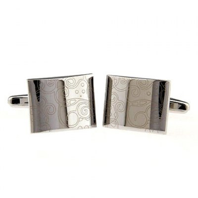 Pair of Chic Special Design Square Shape Alloy Cufflinks For Men