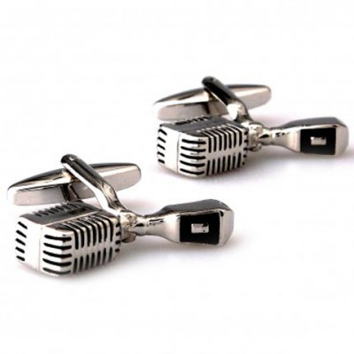 Pair of Chic Microphone Shape Alloy Cufflinks For Men