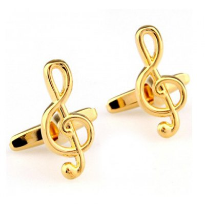 Musical Note Shape Alloy Cufflinks