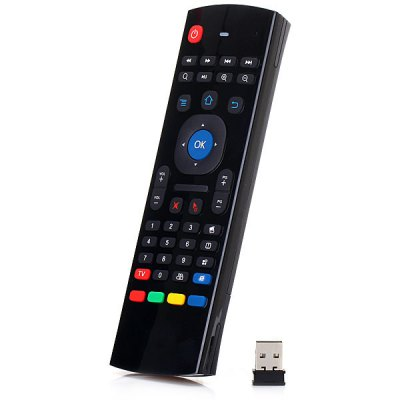 TK617 2.4G Wireless Six Axis Gyroscope Full Keyboard Air Mouse Remote Control