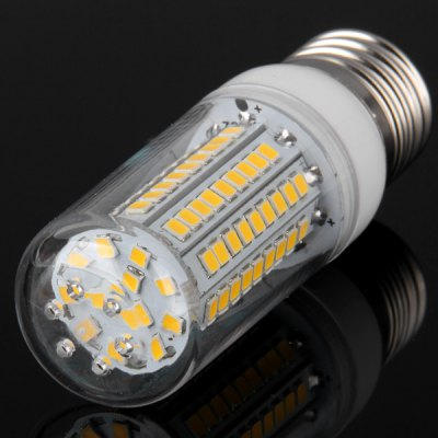 5W E27 SMD  -  2835 102 LEDs 480Lm LED Corn Lamp with Silver Edged 220  -  240V