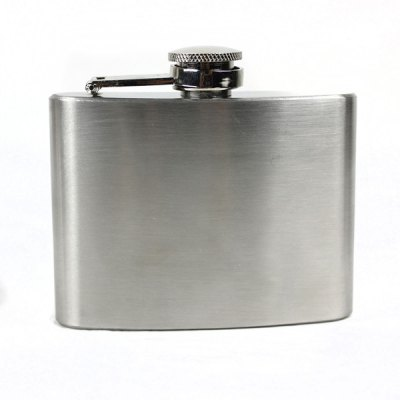 Stainless Steel 4oz Hip Flask with Funnel for Outdoor Activities