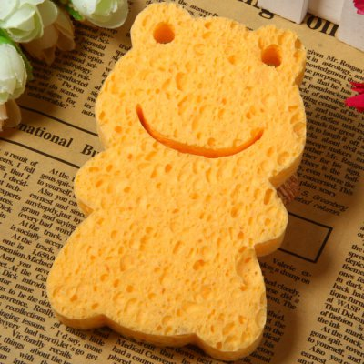 Practical Wood Pulp Sponge Frog Face Cleaning Puff Makeup Beauty Gadgets