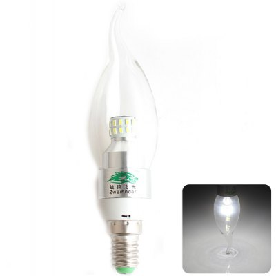 Zweihnder SMD - 3014 x 30 LEDs E14 3W Tail - drawing Bulb White Light 280 Lumens Candle Light