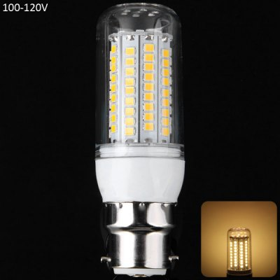 1800Lm 20W B22 SMD  -  2835 102 LEDs Warm White Silver Edged LED Corn Lamp 100  -  120V