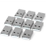Multifunctional 4Pin Male Type A SMT Plugs ( DC 30V 1.5A ) for Electronic DIY - 10PCS