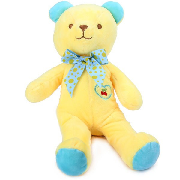 Comfortable Cherry Plush Bear Doll Toy with Dot Bow Tie (33CM)