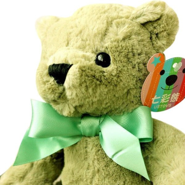 20cm Adorable Bear Plush Animal Toy with Hanging Suction Cup Pendant Doll