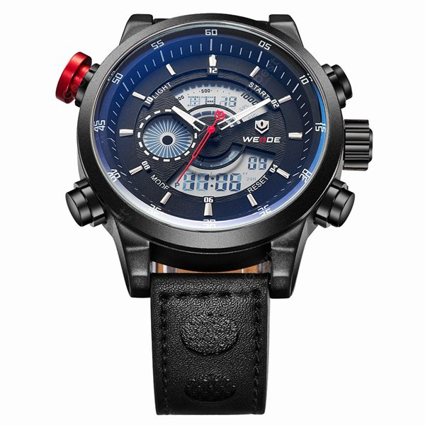 Weide WH - 3401 Water Resistant Military Sports Watches Double Movt Wristwatch
