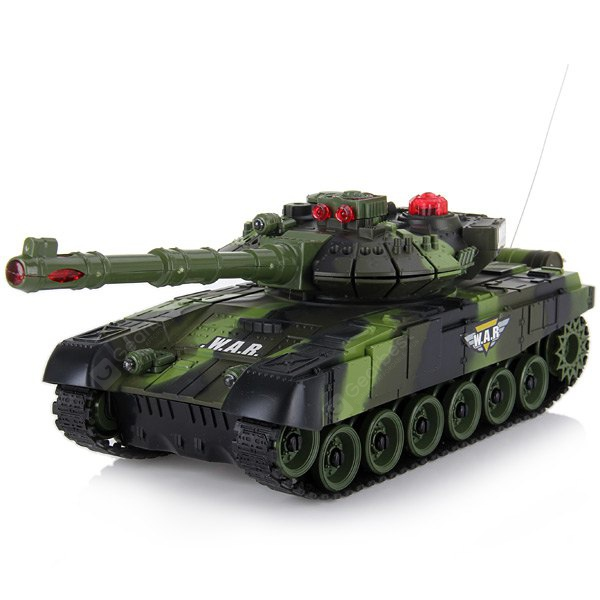 9993 Military Infrared Remote Control Tank with 300 Degree Rotation Emplacement ( AC 220 - 240V Char