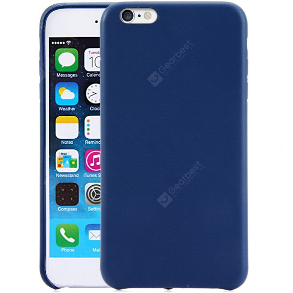 Stylish PU Material Back Case Cover iPhone 6 Plus - 5.5 inches DEEP BLUE