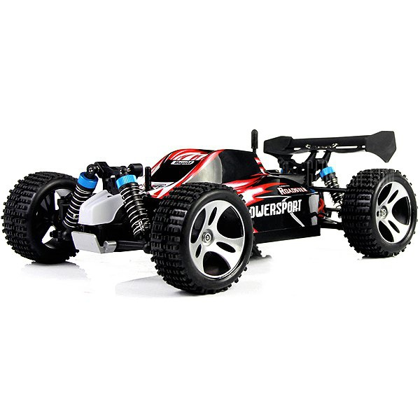 WLtoys A959 1 - 18 Scale 2.4G RC OFF - Road Racing Car with Anti - vibration System - US Plug