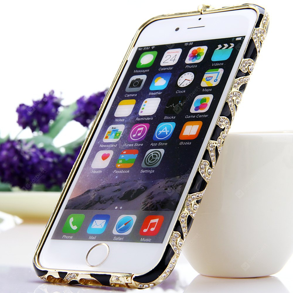 Fashionable Metal Bumper Frame Case of Diamond Design for iPhone 6 4.7 inches