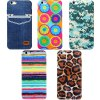best Novelty Sunflower Pattern Silicone and Cloth Back Case Cover for iPhone 6 Plus  -  5.5 inches