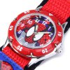 Spider Man Quartz Watch Round Dial Velcro Nylon Strap for Children photo
