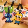 Buy Creative Little Monster Bag Backpack Ornament Cartoon Pendant Luggage Tag Travel Household Supplies GRAY