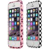 Frame Style Footprint Pattern PC Bumper Case for iPhone 5 5S deal