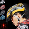 cheap Cool Bicycle Helmet Unibody Integrated Cycling Hat with 6 LEDs Light Lamp