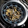 Buy Tevise 815A Hollow - Automatic Mechanical Male Watch Stainless Steel Body Round Dial BLACK