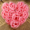 cheap 12Pcs Rose Soap Flower with Romantic Heart - shaped Box Birthday / Christmas / Wedding Gift