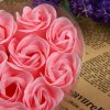 12Pcs Rose Soap Flower with Romantic Heart - shaped Box Birthday / Christmas / Wedding Gift deal