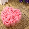 12Pcs Rose Soap Flower with Romantic Heart - shaped Box Birthday / Christmas / Wedding Gift for sale